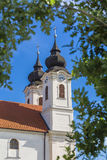 Church tower in Tihany Royalty Free Stock Photos