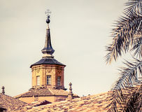 Church tower toledo. The façade of a church tower in Toledo Spain Royalty Free Stock Images