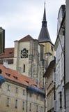Church tower view from Prague in Czech Republic Stock Photo