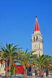 Church with tower in Zakynthos island Stock Photography