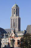 Church tower of Zwolle. In Holland Royalty Free Stock Image
