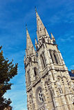 Church towers. From the cathedral in Moulins, France Stock Photos