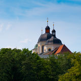 Church towers. St. Michaels church in Olomouc, Czech republic Royalty Free Stock Image