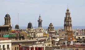 Church towers of Barcelona, Spain Stock Photo