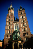Church towers in Krakow Royalty Free Stock Photo