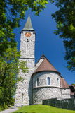 Church in the town of Balzers Royalty Free Stock Photo