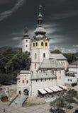 Church in town Banska Bystrica, Slovakia Stock Photos