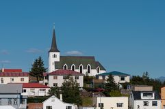 Church in town of Borgarnes in Iceland Stock Image