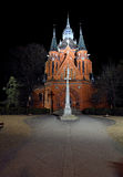 Church in town Breclav Royalty Free Stock Photography