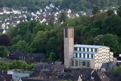Church in town Dillenburg Stock Image