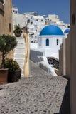 Church and town of Exo Gonia, Santorini Royalty Free Stock Photo