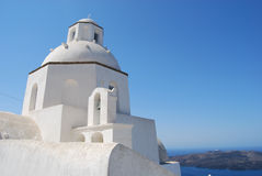 Church in the town of Fira Santorini Greece Stock Photo
