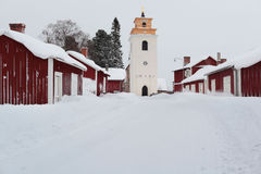 Church town of Gammelstad, Sweden Royalty Free Stock Images