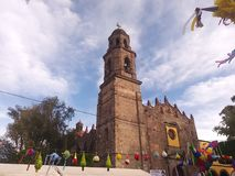 Church in a town of Mexico Stock Photo