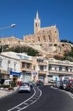 Church in town Mgarr - Gozo, Malta Stock Photography