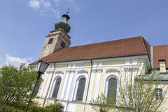 Church in the town of Mueldorf, Germany Royalty Free Stock Image