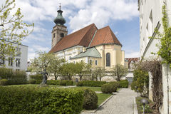 Church in the town of Mueldorf, Germany Royalty Free Stock Photos