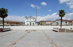 Church in the town square of PALMANOVA in friuli venezia giulia Royalty Free Stock Image