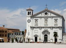 Church in the town square of PALMANOVA in friuli venezia giulia Stock Photos