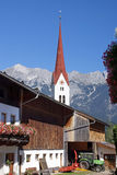 Church in the town Weer in the Austrian Alps Royalty Free Stock Image