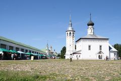 Church of the Resurrection on the trade area, Russia, Suzdal stock image