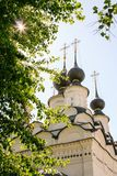 Domes of St. Antipy Church, Russia, Suzdal stock image