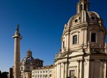 Church in the traiano forum Rome Stock Image