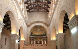 Church of the Transfiguration. Inside the Church of the Transfiguration, Tabor Mount, Israel Stock Image