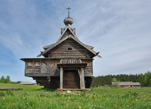 Church of Transfiguration. 1707. Architecturally-ethnographic museum. Khokhlovka. The church is cut down without use of nails (nails fastened only lemekh Stock Photography
