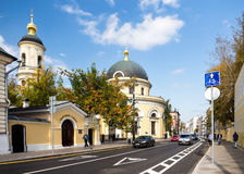 The Church of the Transfiguration in Moscow Stock Photo