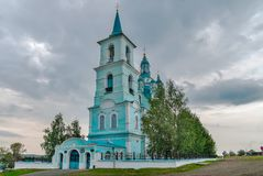 Church of the Transfiguration.N.Sinyachikha.Russia Royalty Free Stock Photos