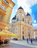 Church of Transfiguration in Old Town of Lviv, Ukraine Stock Photography