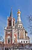 Church of the Transfiguration in Ostrov village,Moscow region, R Royalty Free Stock Photos