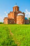 Church of the Transfiguration of Savior on Kovalevo in Veliky Novgorod, Russia. Architecture of Veliky Novgorod. Church of the Transfiguration of Savior on Stock Image