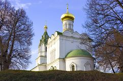 Church of the Transfiguration in the Village Bagerovo Royalty Free Stock Images