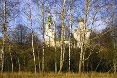 Church of the Transfiguration in the Village Bagerovo Stock Photos