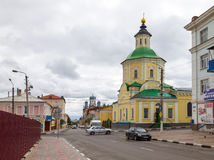 Church of the Transfiguration (Preobrazhenskaya). Intersection o Royalty Free Stock Photos