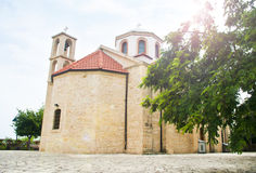 Church and tree on sunny day Royalty Free Stock Images