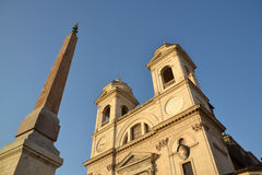 Church Trinita dei Monti in Rome, Italy Stock Photos