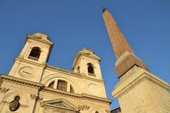 Church Trinita dei Monti in Rome, Italy Stock Photo
