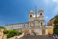Church Trinita dei Monti in Rome Stock Photography