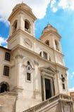 The church of Trinita dei Monti , Rome, Italy. Stock Image