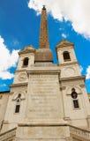 The church of Trinita dei Monti , Rome, Italy. Stock Images