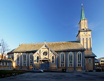 Church in Tromso Royalty Free Stock Images