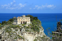 Church of Tropea. The little church of the island of Tropea Royalty Free Stock Image