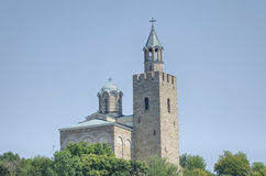 the church of Tsarevets in Bulgaria. The town of Veliko Tarnovo. Royalty Free Stock Photos