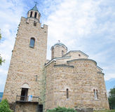 The church of Tsarevets castle stronghold in Veliko Tarnovo, Bulgaria. Royalty Free Stock Photography