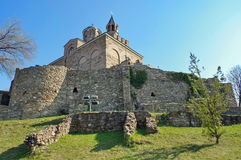 Landmark attraction in Veliko Tarnovo, Bulgaria. Patriarchal Cathedral of the Holy Ascension of God in Tsarevets fortress Royalty Free Stock Photos