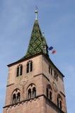 The church of  Turckheim in Haut Rhin Stock Photo