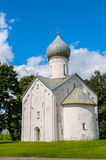 Church of the Twelve Apostles on the Abyss in Veliky Novgorod, Russia. Architecture of ancient church of Church of the Twelve Apostles on the Abyss in Veliky royalty free stock images